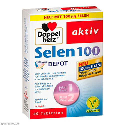 Doppelherz Selen 100 2-Phasen DEPOT, 40 ST, Queisser Pharma GmbH & Co. KG
