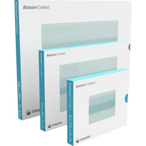 Biatain Contact 7.5x10 cm Silikon Kontaktauflage, 10 ST, Coloplast GmbH