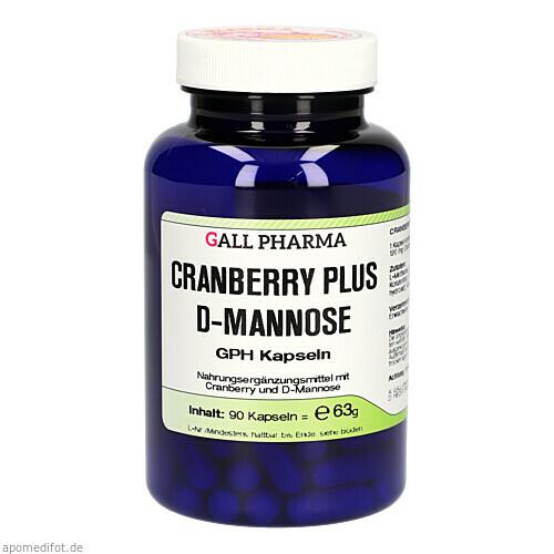 CRANBERRY PLUS D-MANNOSE GPH KAPSELN, 90 ST, Hecht-Pharma GmbH