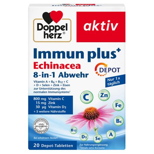 Doppelherz Immun Plus Echinacea Depot, 20 ST, Queisser Pharma GmbH & Co. KG
