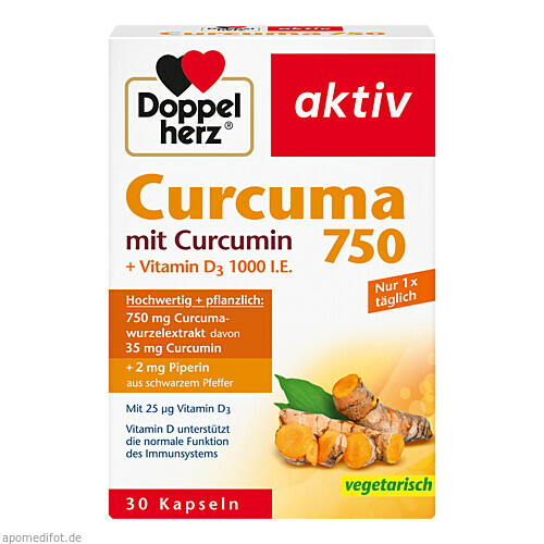 Doppelherz Curcuma 750, 30 ST, Queisser Pharma GmbH & Co. KG