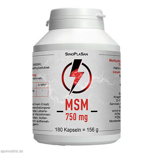 MSM 750mg MONO 99.9%, 180 ST, Sinoplasan AG