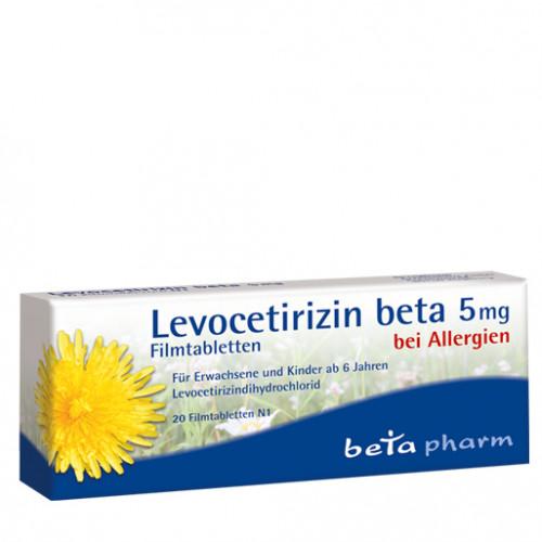 Levocetirizin beta 5mg Filmtabletten, 20 ST, betapharm Arzneimittel GmbH