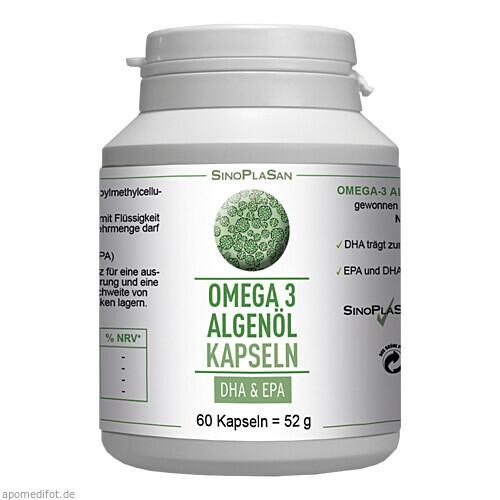Omega-3 Algenöl DHA+EPA, 60 ST, Sinoplasan AG