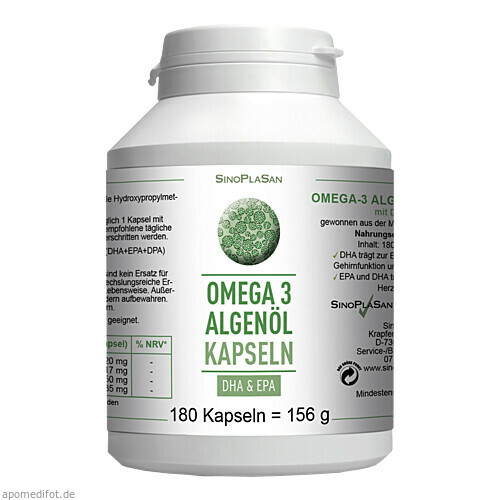 Omega-3 Algenöl DHA+EPA, 180 ST, Sinoplasan AG
