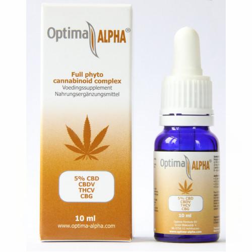 Cannabinoiden complex Optima ALPHA 5% BIO GMP, 10 ML, Optima Formula BV