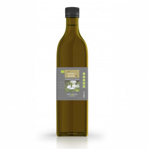 Schwarzkümmel Öl Bio 1000ml, 1000 ML, Amazonas Naturprodukte Handels GmbH