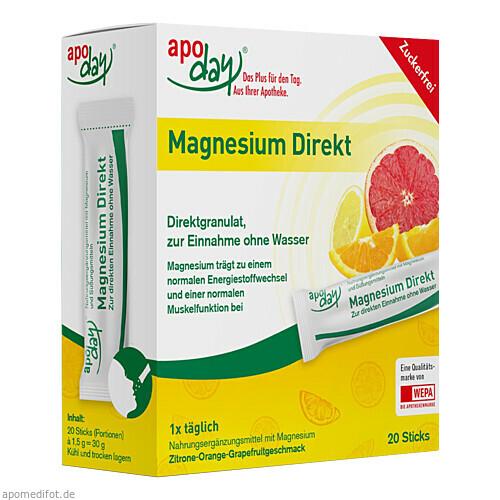 apoday Magnesium Direkt Sticks, 20X1.5 G, WEPA Apothekenbedarf GmbH & Co KG