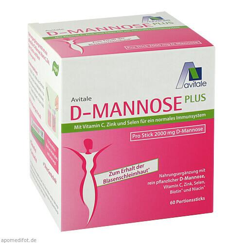 D-Mannose Plus 2000mg Sticks m. Vit. u. Mineralst., 60X2.47 G, Avitale GmbH