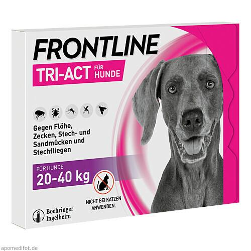 FRONTLINE Tri-Act Lsg.z.Auftropfen f.Hunde 20-40kg, 3 ST, Boehringer Ingelheim Vetmedica GmbH
