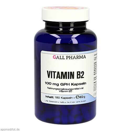 VITAMIN B2 100MG GPH KAPSELN, 180 ST, Hecht-Pharma GmbH