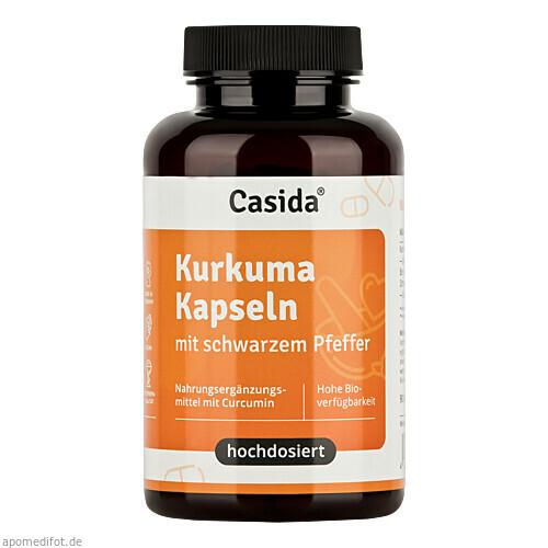 Kurkuma Kapseln + Pfeffer Curcumin hochdosiert, 90 ST, Casida GmbH & Co. KG