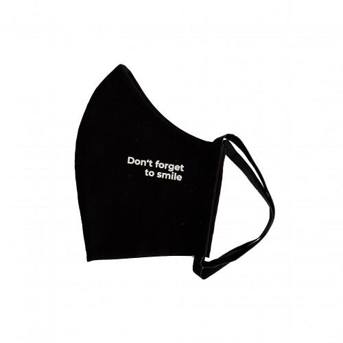 Bio Mund Nasen Maske Don't forget to smile schwarz, 1 ST, PHYNE GmbH