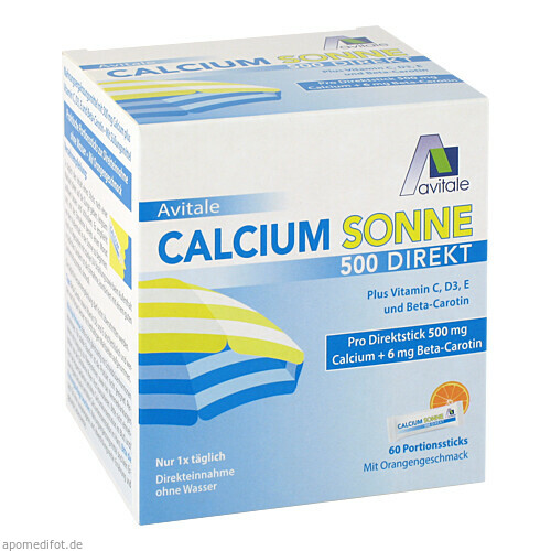 Calcium Sonne 500 Direkt, 60 ST, Avitale GmbH
