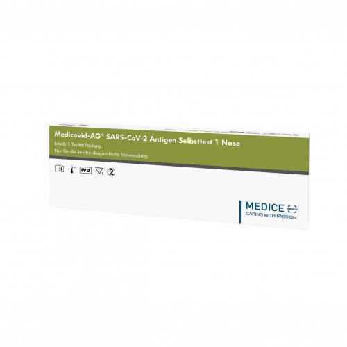 Medicovid-AG SARS-CoV-2 Antigen Selbsttest1 - Nase, 1 ST, Medice Arzneimittel Pütter GmbH & Co. KG