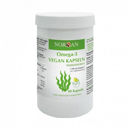 NORSAN Omega-3 Vegan Kapseln, 80 ST, San Omega GmbH