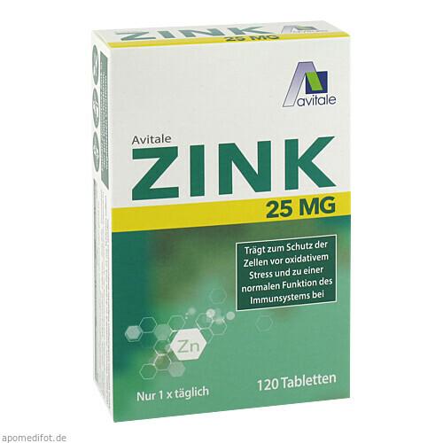 Zink 25 mg, 120 ST, Avitale GmbH
