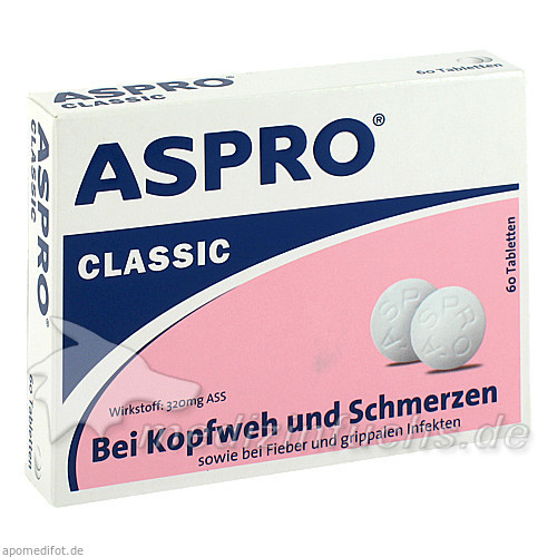 ASPRO® Classic, 60 St, M.C.M. Klosterfrau Healthcare GmbH