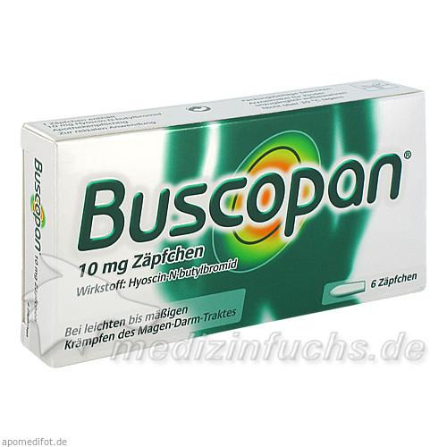 Buscopan 10 mg Zäpfchen, 6 Stk., BOEHRINGER INGELHEIM RCV