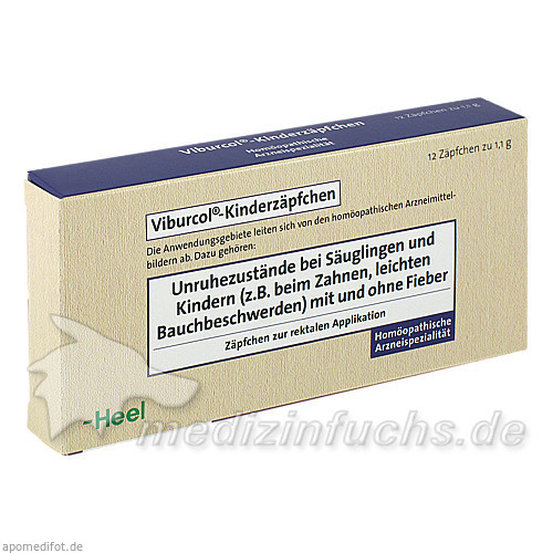Viburcol®-Kinderzäpfchen, 12 St, Dr. Peithner GmbH & Co KG