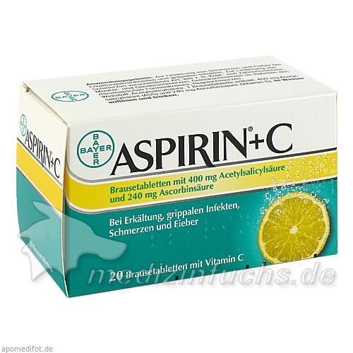 Aspirin + C Brausetabletten, 20 St, Bayer Austria GmbH