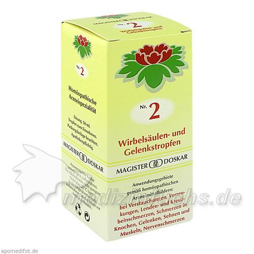 Nr. 2 Wirbelsäulen- und Gelenkstropfen, 50 ml, Magister Martin Doskar pharm. Produkte e.U.