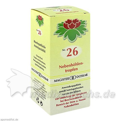 MAGISTER DOSKAR Nr. 26 Nebenhöhlentropfen, 50 ml, Magister Martin Doskar pharm. Produkte e.U.