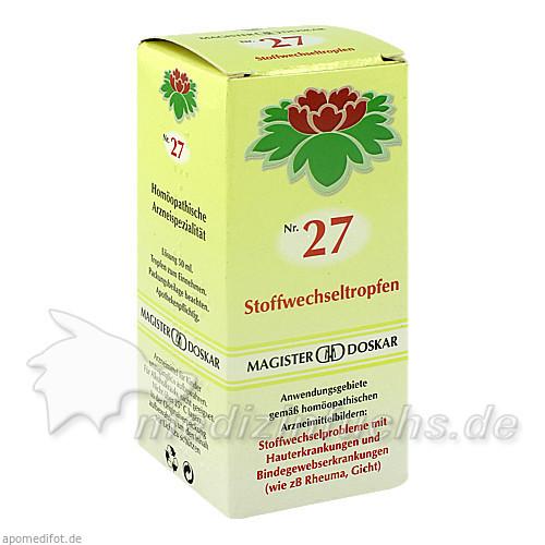 Nr. 27 Stoffwechseltropfen, 50 ml, Magister Martin Doskar pharm. Produkte e.U.