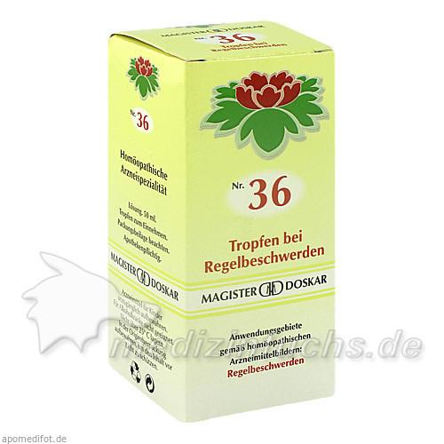 MAGISTER DOSKAR Nr. 36 Tropfen bei Regelbeschwerden, 50 ml, Magister Martin Doskar pharm. Produkte e.U.