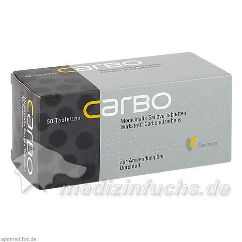 CARBO Medicinalis Sanova Tabletten, 50 St, Sanova Pharma GesmbH