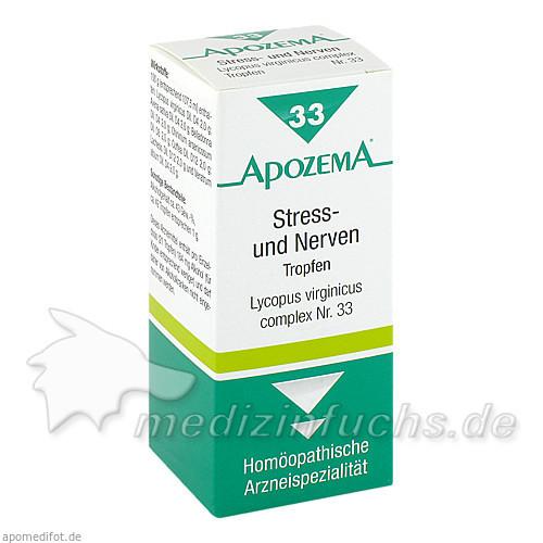 APOZEMA® Stress- und Nerven-Tropfen Nr. 33, 50 ml, Apomedica Pharmazeutische Produkte GmbH