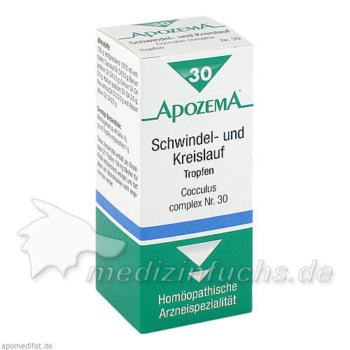 APOZEMA® Schwindel- und Kreislauf-Tropfen Nr. 30, 50 ml, Apomedica Pharmazeutische Produkte GmbH