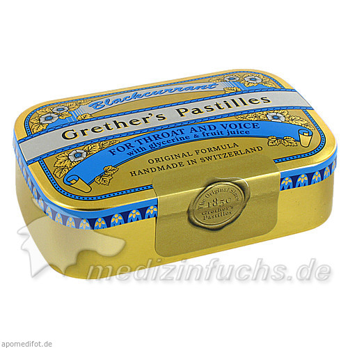 Grether's Pastillen Blackcurrant, 110 g, SCHMIDGALL DR A.&L.