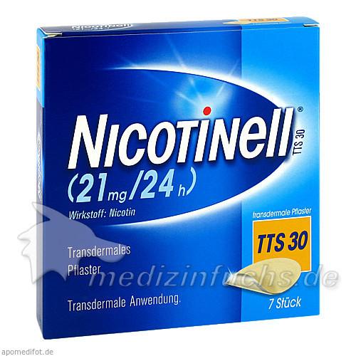 NICOTINELL® Transdermales Pflaster TTSH30, 7 ST, GSK-Gebro Consumer Healthcare GmbH