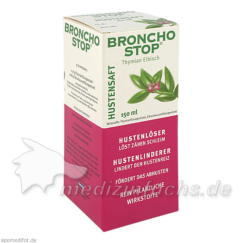 BRONCHOSTOP® Hustensaft, 150 ml, Kwizda Pharma GmbH
