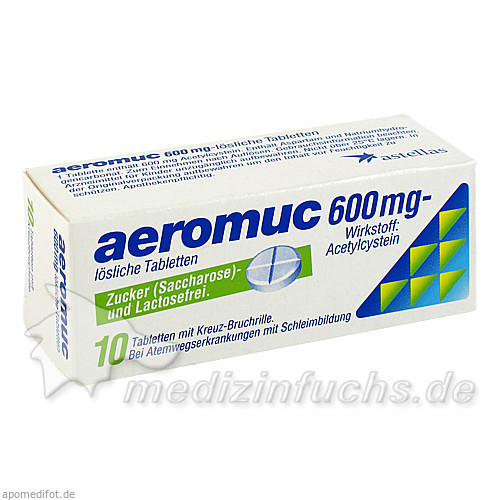 aeromuc 600 mg, 10 St, Astellas Pharma Ges.m.b.H.