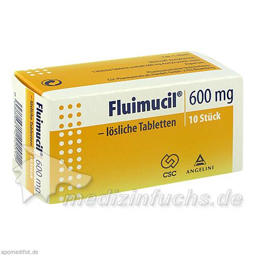 Fluimucil® 600 mg lösliche Tabletten, 10 St, Angelini Pharma Österreich GmbH