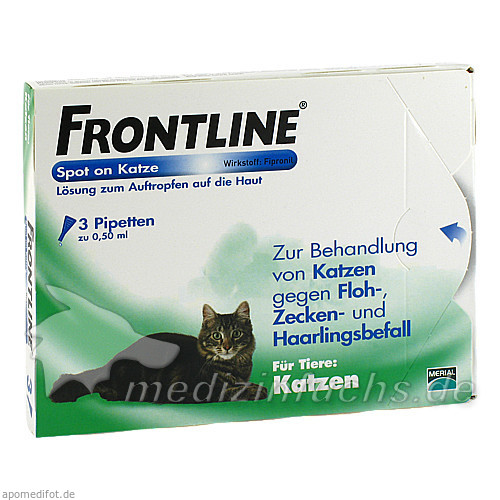 Frontline Spot Katze, 3 Stk., Merial S.A.S.