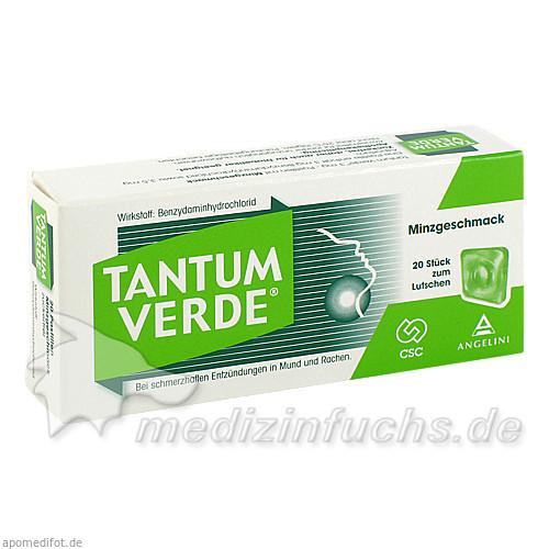 TANTUM VERDE® Pastillen mit Minzgeschmack, 20 ST, Angelini Pharma Österreich GmbH