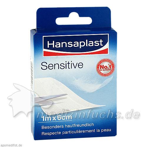 Hansaplast Sensitive 1 m x 6 cm Pflaster, 1 Stk., BEIERSDORF G M B H
