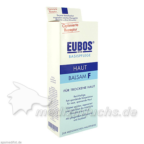 Eubos Basispflege Hautbalsam F für trockene Haut, 200 ml,