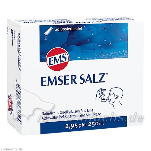 Emser Salz (2,95 g für 250 ml), 20 Beutel, SIEMENS & CO – Heilwasser und Quellenprodukte des Staatsbades Bad Ems GmbH & Co.