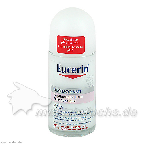 Eucerin pH5 Deo 24h Empfindliche Haut Roll-on, 50 ml, BEIERSDORF G M B H