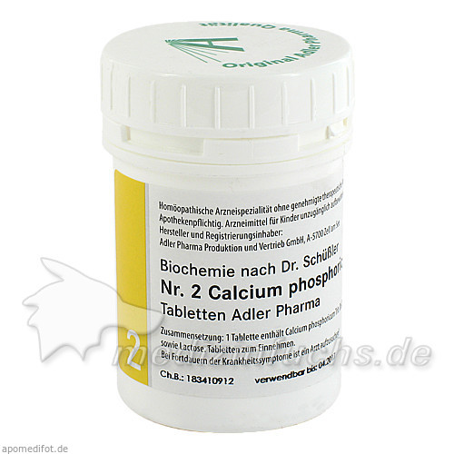 Adler Schüssler Salze Nr. 2 Calcium phosphoricum D6, 100 g, Adler Pharma Produktion und Vertrieb GmbH