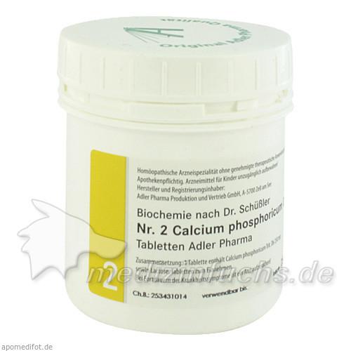 Adler Schüssler Salze Nr. 2 Calcium phosphoricum D6, 250 g, Adler Pharma Produktion und Vertrieb GmbH