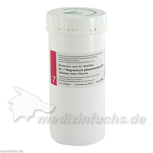 Adler Schüssler Salze Nr. 7 Magnesium phosphoricum D6, 500 g, Adler Pharma Produktion und Vertrieb GmbH