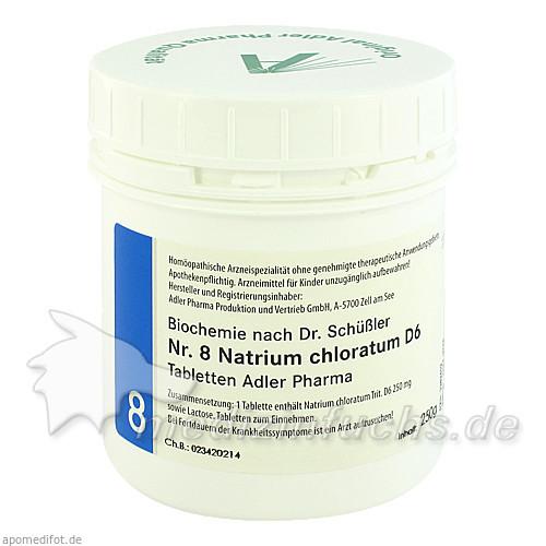Adler Schüssler Salze Nr. 8 Natrium chloratum D6, 250 g, Adler Pharma Produktion und Vertrieb GmbH
