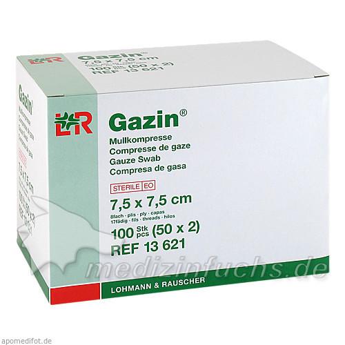 Gazin® Mullkompresse 8-fach steril 7,5 cm x 7,5 cm, 50x2 St, Lohmann & Rauscher GmbH & Co. KG