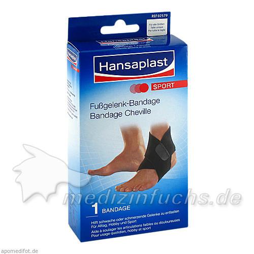 Hansaplast Fußgelenk Bandage, 1 Stk., BEIERSDORF G M B H