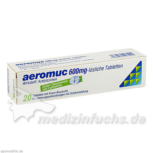 aeromuc 600 mg, 20 St, Astellas Pharma Ges.m.b.H.